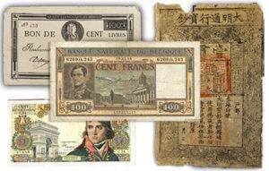 Billets de banque, achat et vente