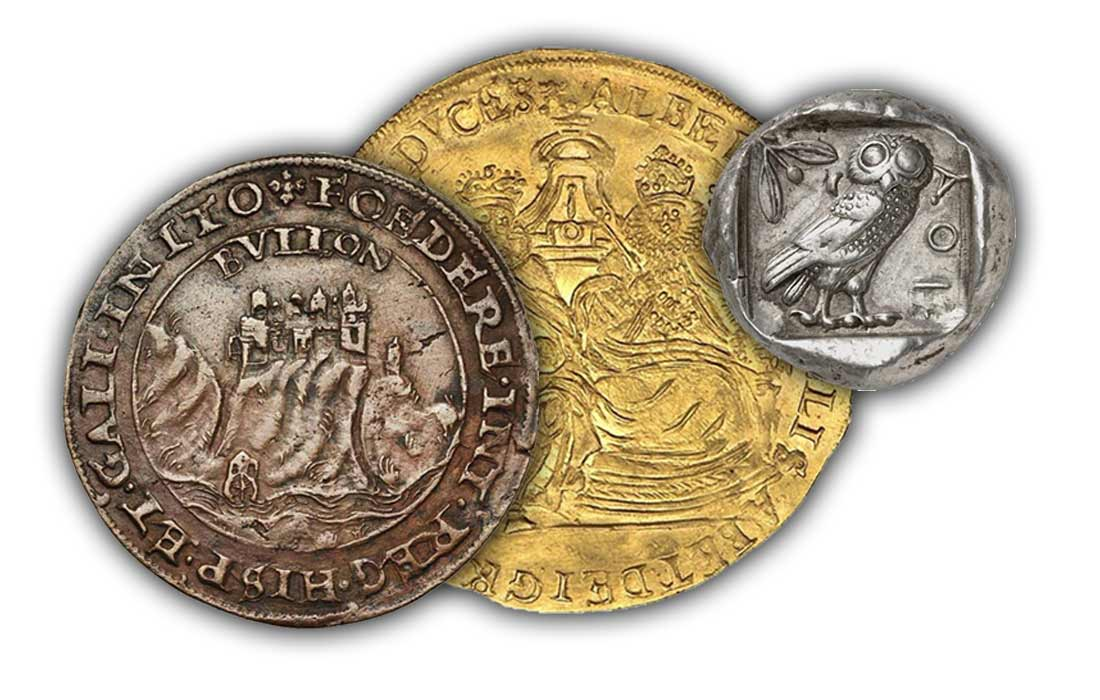 Nous vendons des monnaies du monde entier, de toutes époques et en tous métaux. En tant que membre de l'Association Internationale des Numismates Professionnels (AINP) depuis 1994 toutes nos ventes sont couvertes par une garantie d'authenticité sans limite dans le temps.